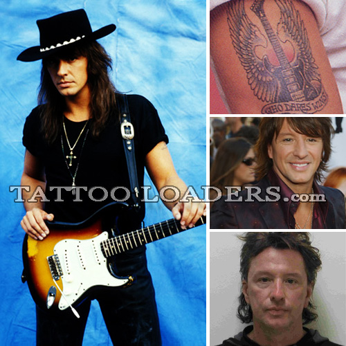 Richie Sambora Tattoo's especially the one of the guitar with the wings.