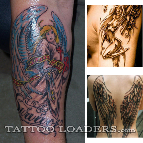 gurdian angel tattoos are some of the coolest tats around because they
