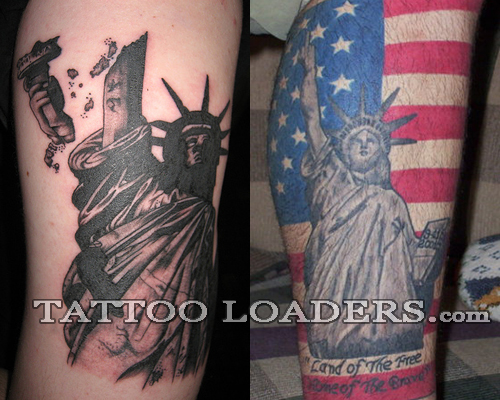 Okay New Yorkers and freedom players here are some statue of liberty tattoo