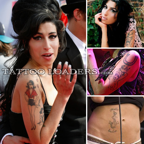 amy winehouse tattoos. Amy Winehouse Tattoos