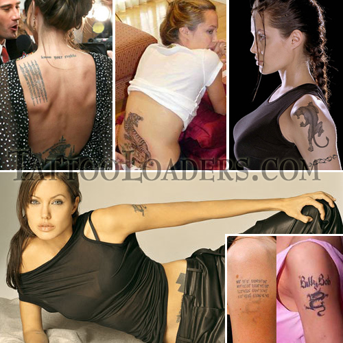 Angelina Jolie's tattoos are as famous as her main feature or trademark