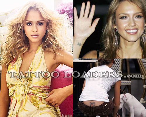 Jessica Alba Tattoos are sexy especially the one inked on her lowerback and