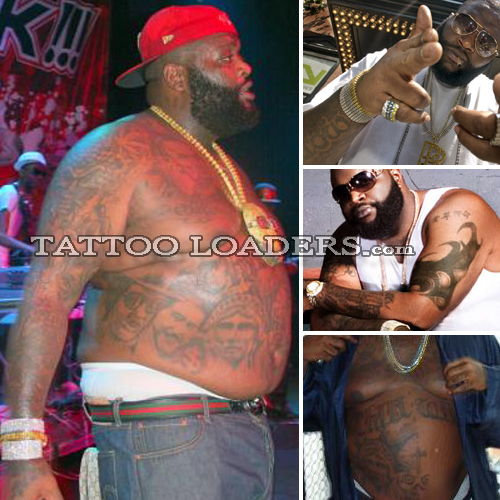 Rick Ross Tattoos