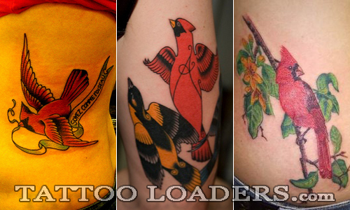 tattoo image of a cardinal bird