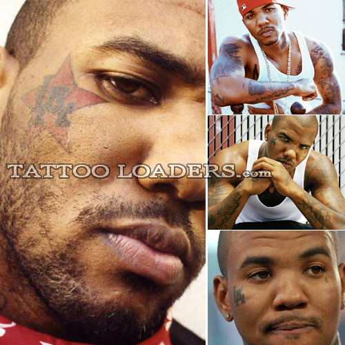 Tattoos of Rapper The Game