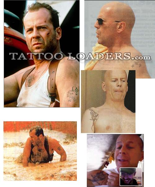 Actor Bruce Willis Tattoos