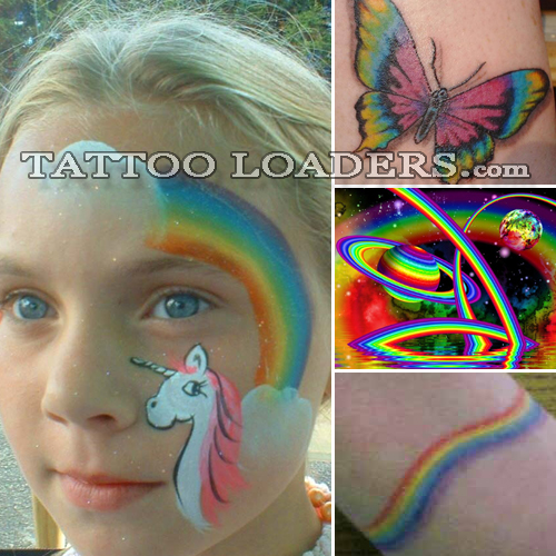 Rainbow bright tattoos could mean that you are really happy or extremely gay