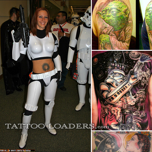 star wars girl tattoo. Swine, darth vader tattoo.