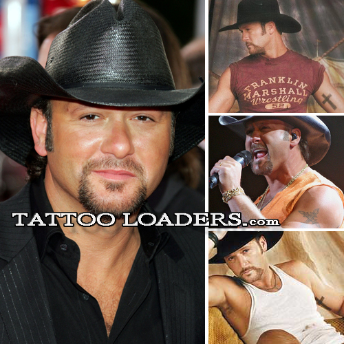 Tattoos on Tim McGraw