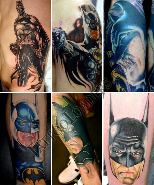 Some of the coolest cartoon tats are the DC Comics Batman tattoos that fans