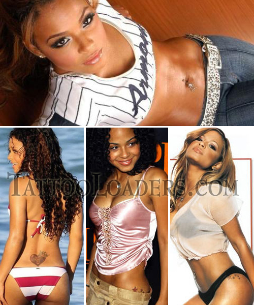 Tattoos on christina Milian