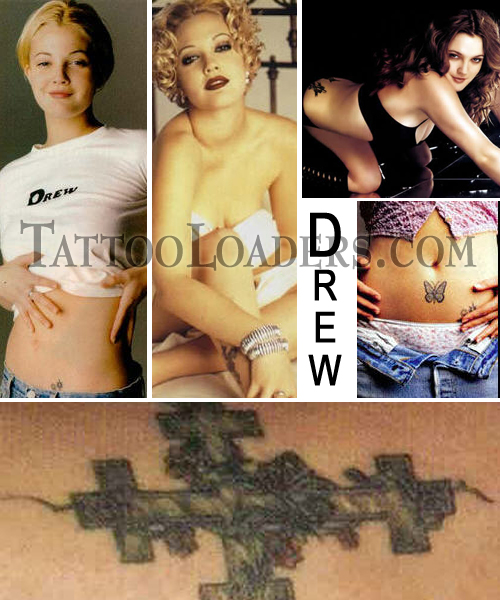 Tattoos on Drew Barrymore