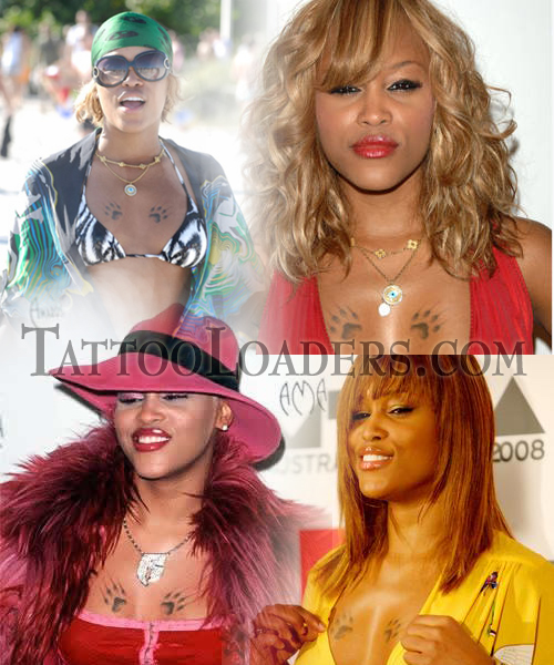 rapper tattoo. Rapper Eve Tattoos