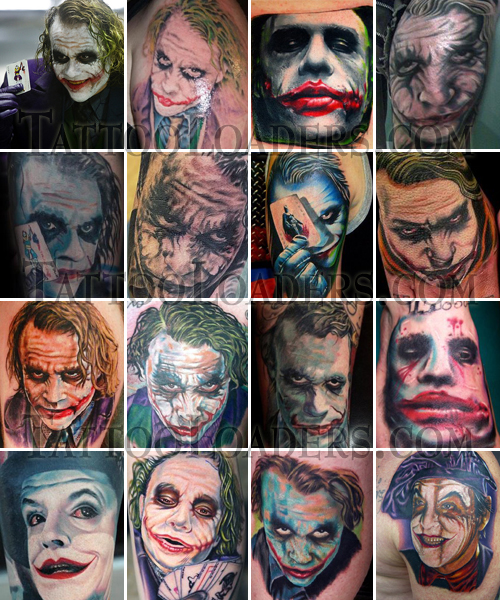 Joker Tattoos from Batman. If you have seen any of the Batman films you know