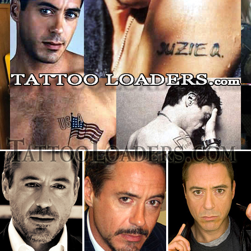 Tattoos on Robert Downey Jr. Iron Man the movie saved the career of Robert