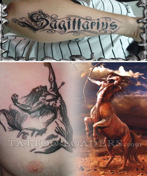 Chinese Sagittarius Tattoos