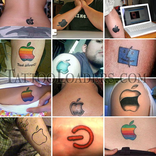Tattoos of Apple Logo. Can you believe that there are fans of Mac so much