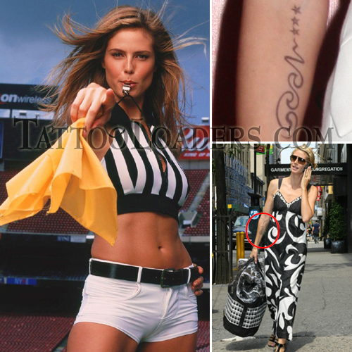 Tattoos of Heidi Klum