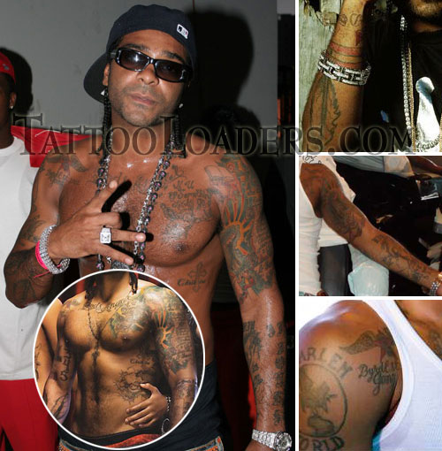 Tattoos on Jim Jones the Rapper
