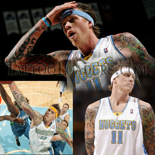 Chris Andersen of the Denver Nuggets is a high flying NBA star that sports
