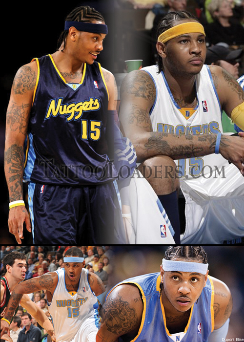 Tattoos on Carmelo Anthony