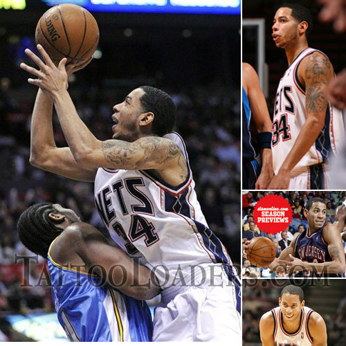 Tattoos on Devin Tattoos. Devin Harris is an exciting NBA player that plays