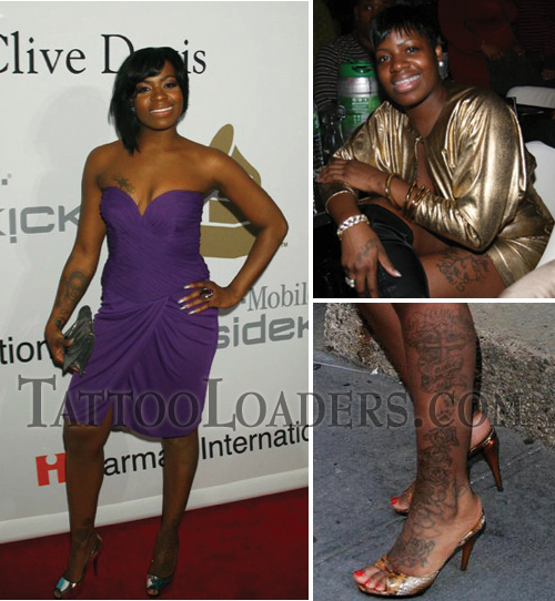 Tattoos on Fantasia Barrino