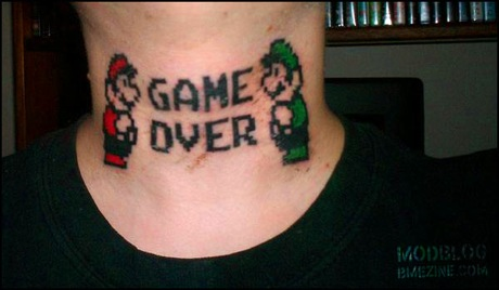 Mario Brothers Nintendo Tattoo
