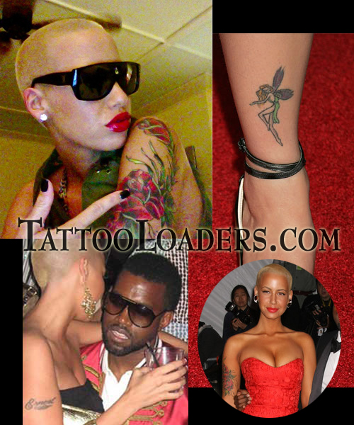 Amber Rose Arm Tattoos Kanye West girlfriend Amber Rose has some very hot