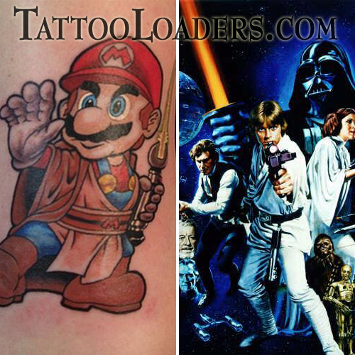 Mario Jedi Star Wars Tattoo Nintendo has always been good to me when it
