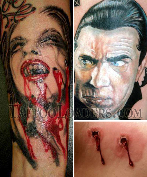 If your going to select a vampire tattoo you have to make sure that it's